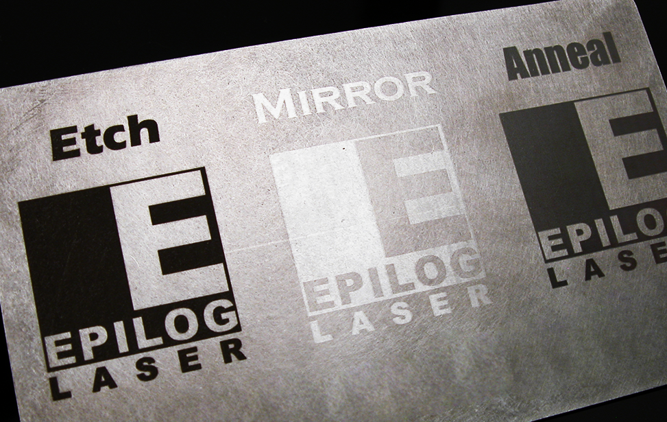 Laser etch, polish and anneal metals.