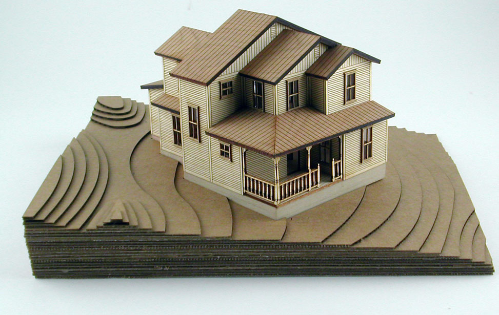Epilog laser application sample gallery for Architecture house models