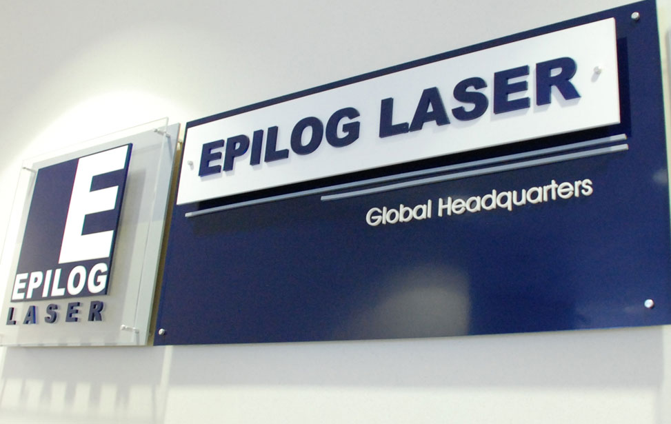 Epilog Acrylic Headquarters Sign