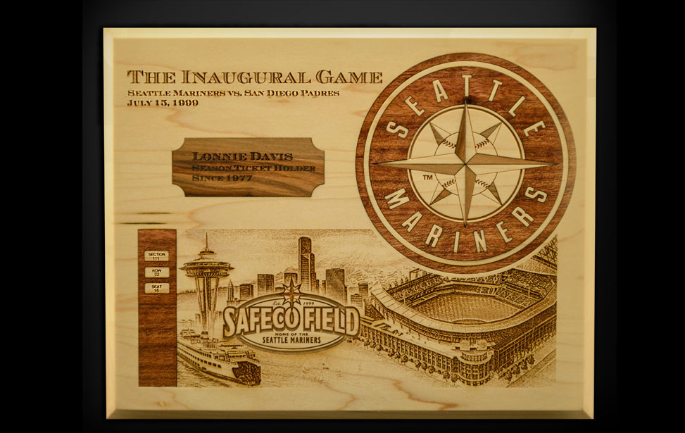 Wood Inlay - Baseball Memorial